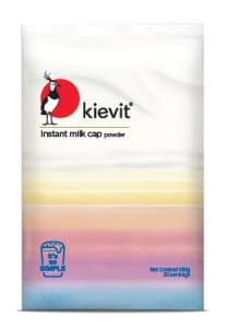 Kievit instant milk cap powder pack shot