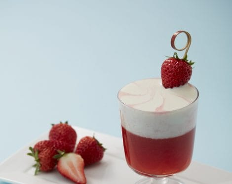 Fresh strawberry drink with instant milk cap thumbnail