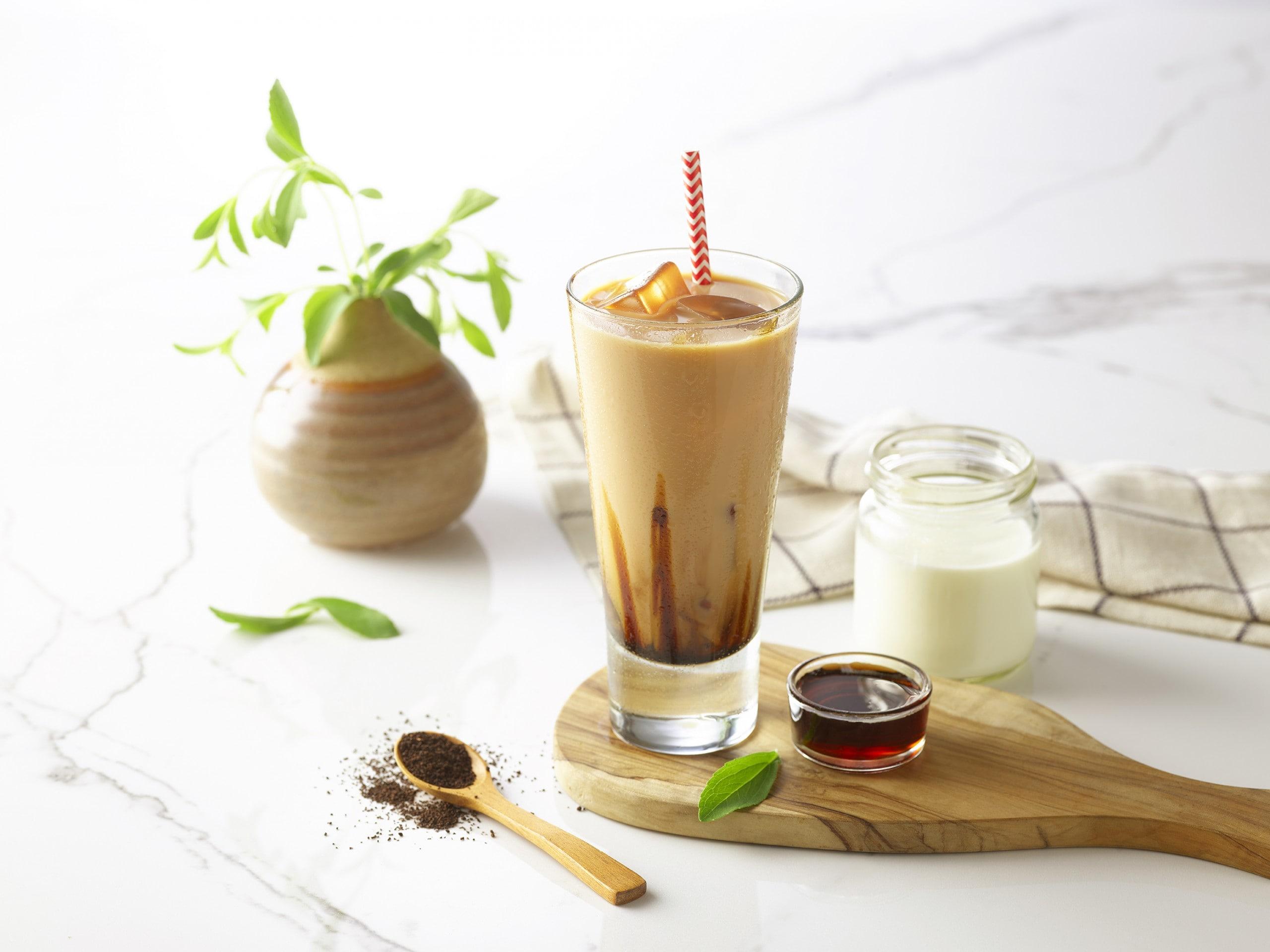 Brown sugar milk tea with stevia thumbnail