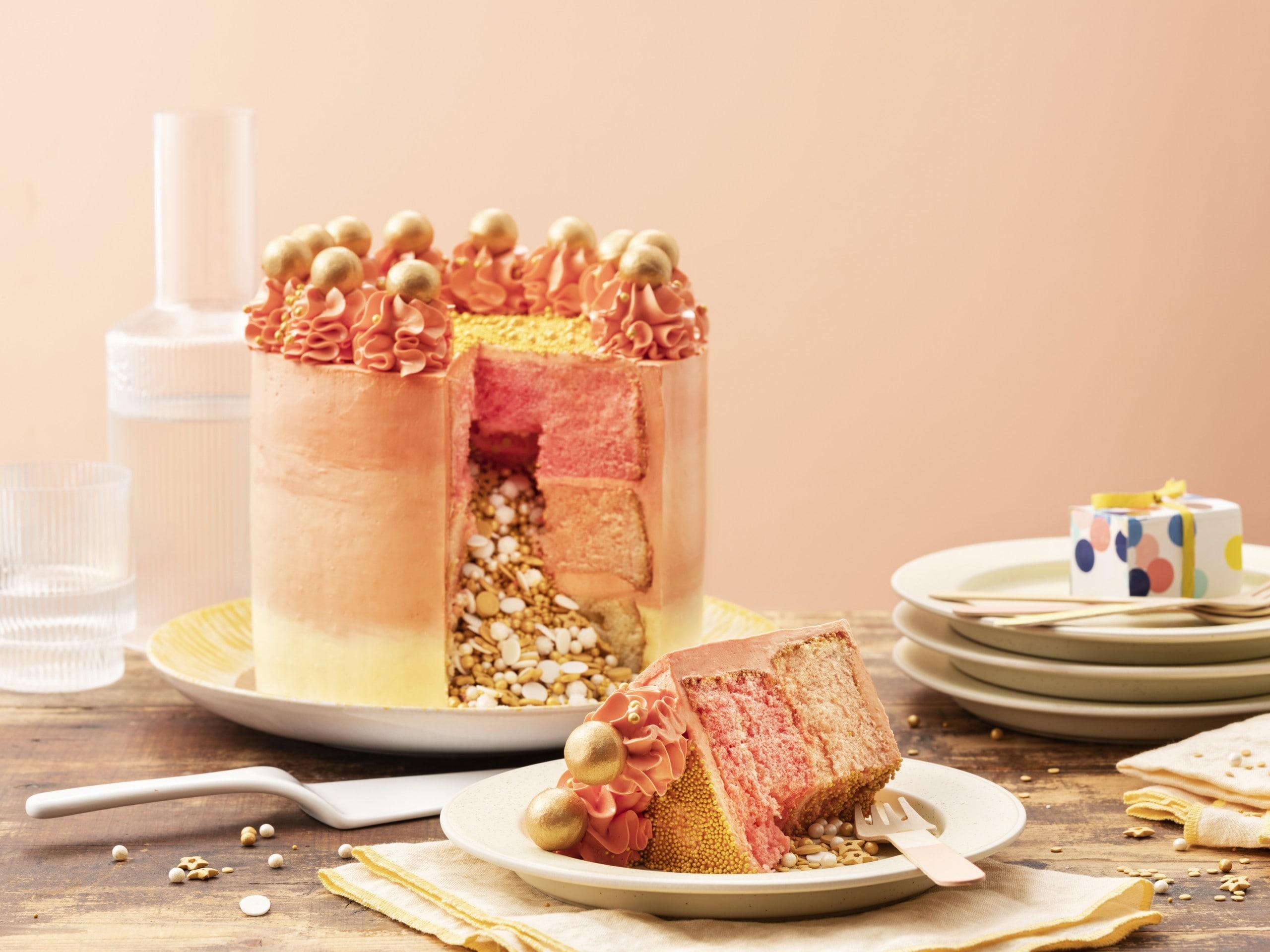 Creamy sunset surprise cake thumbnail